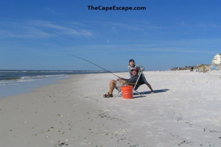 Cape san blas florida shore thang barrier dunes 2 for Surf fishing destin fl