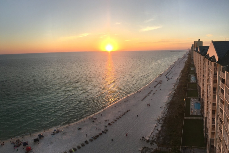 Enjoy spectacular sunsets from the balcony