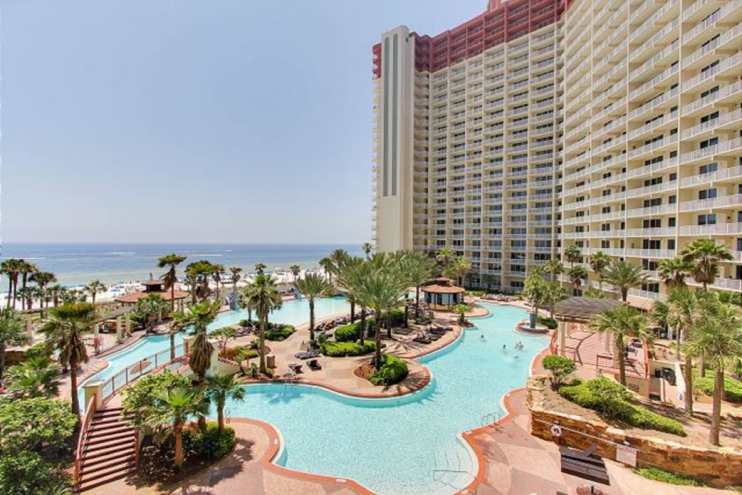 Zero entry expansive pool, largest pool anywhere in PCB!