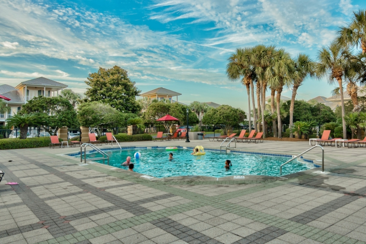 Main community pool only steps from Beach Dreams Cottage!
