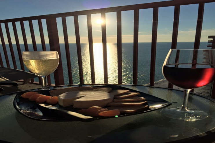 Enjoy the beautiful sunset from our balcony
