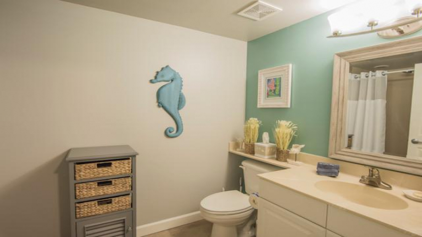 Bunkroom Bathroom with a Shower Stall