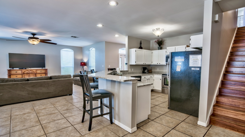 Open Living - Dining - Kitchen Area
