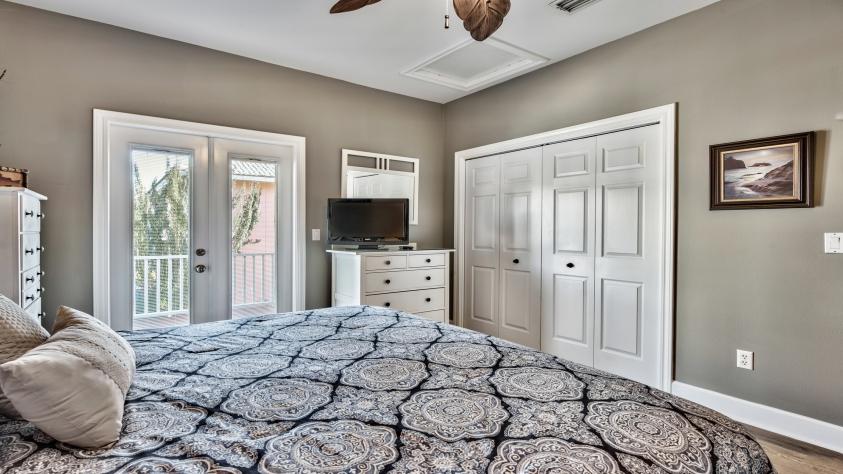 King bedroom; balcony access- 2nd floor