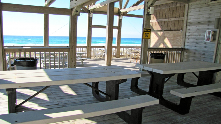 Private Beach Cabana for Emerald Shores only steps away!