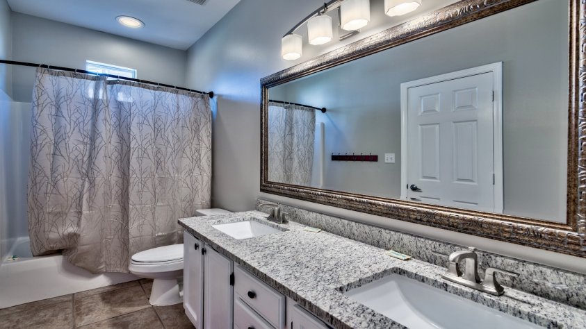 First Floor Master Bathroom with Granite Counter-tops