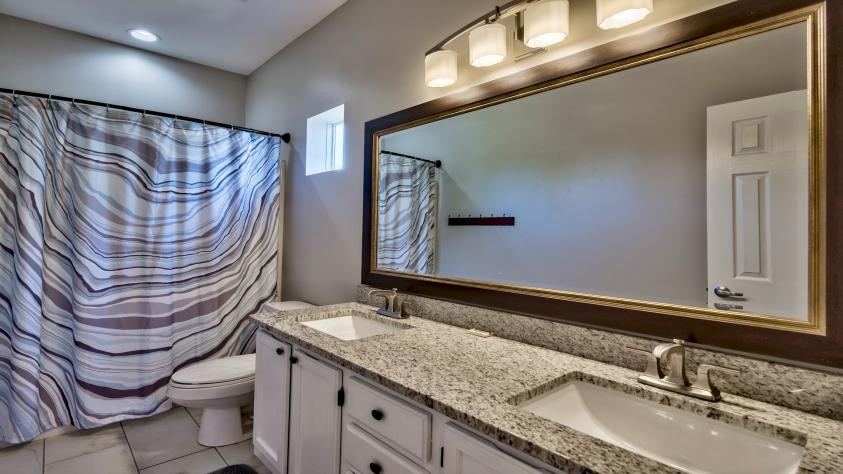 Second Floor Bathroom with Granite Counter-tops