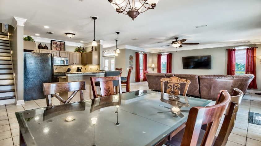 Dining area and open floor plan