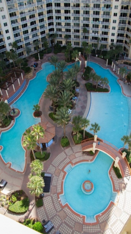 BALCONY VIEW OF THE POOL
