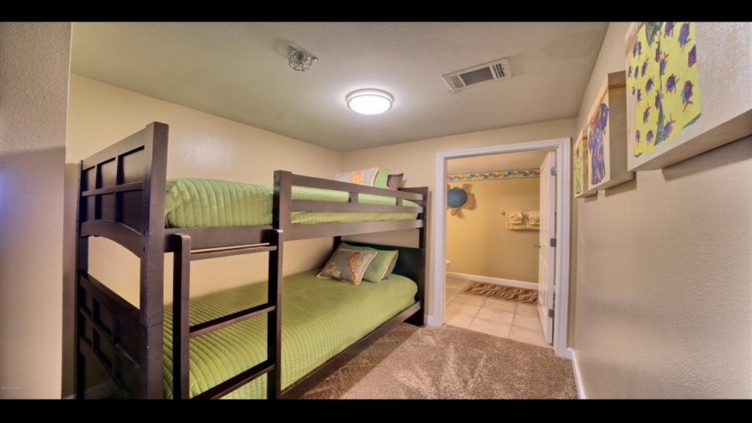 Bunk beds with private bathroom